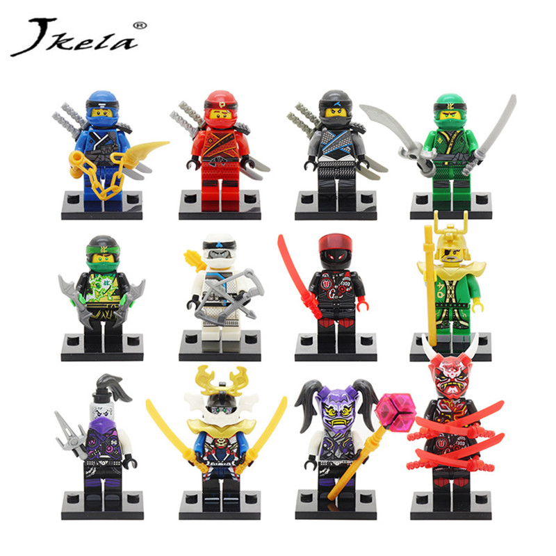 [Jkela] lot Ninja Figure Blocks Kai Jay Cole Zane Nya Lloyd Compatible With Legoingly Ninjagoed TOYS For Children Modle Bricks ninjagoeingly cole jay cole zane lloyd sensei wu nya lloyd nadakhan dogshank blocks toys for childre compatible with legoeinglys