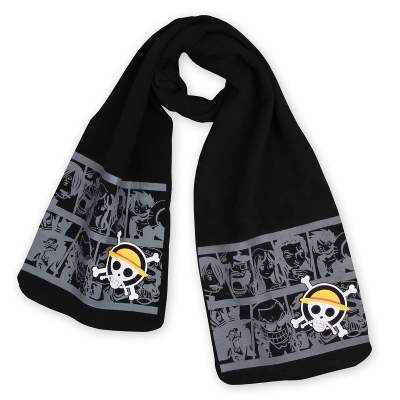 Reliable Anime One Piece Monkey D Luffy Scarf Trafalgar Law Man Women Unisex Cartoon Wrap Shawl Bufanda Cosplay Props Gift Costumes & Accessories Novelty & Special Use