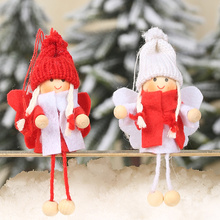 2PCS Cute Christmas Angel Tree Decoration Pendant Creative Doll Hanging For Home Xmas