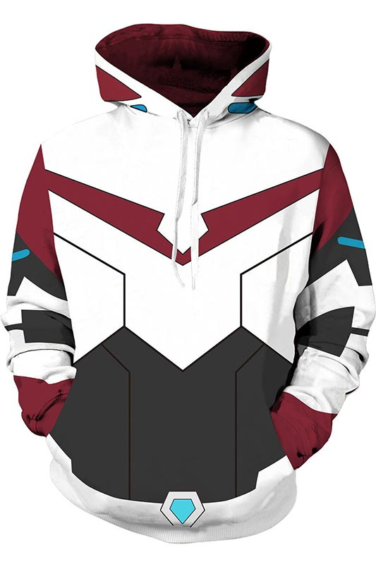 Voltron: Defender of the Universe Hoodie Keith Akira Kogane cosplay Men and women Costumes 3D Printing Sweatshirts Hooded