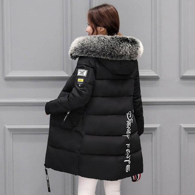 נשים מעיל החורף 2017 מעיל נקבה parka ארוכה feminina למטה ז 'קט בתוספת גודל ארוך סלעית ברווז למטה מעיל מעיל נשים