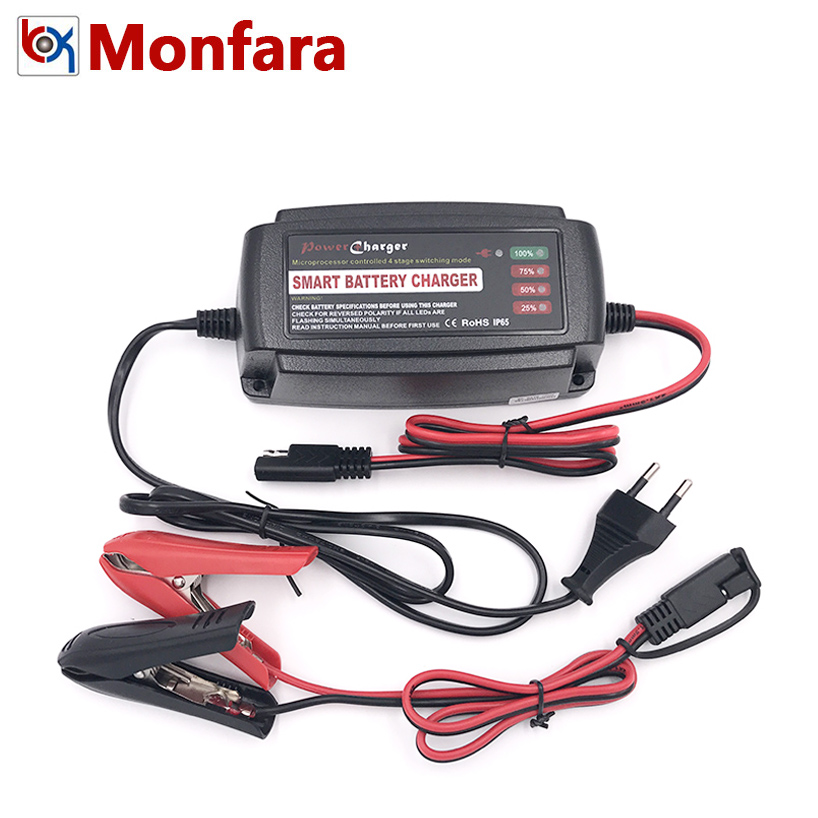 15-120AH Full Automatic Smart Battery Charger for Car Motor 12V 5A Auto Lead Acid Desulfator Power Charge Supply 12 V Volt 5 AMP bringsmart worm gear motor high torque 70kg cm 12v dc motor mini gearbox 24v motor reversed self lock engine diy parts a58sw31zy