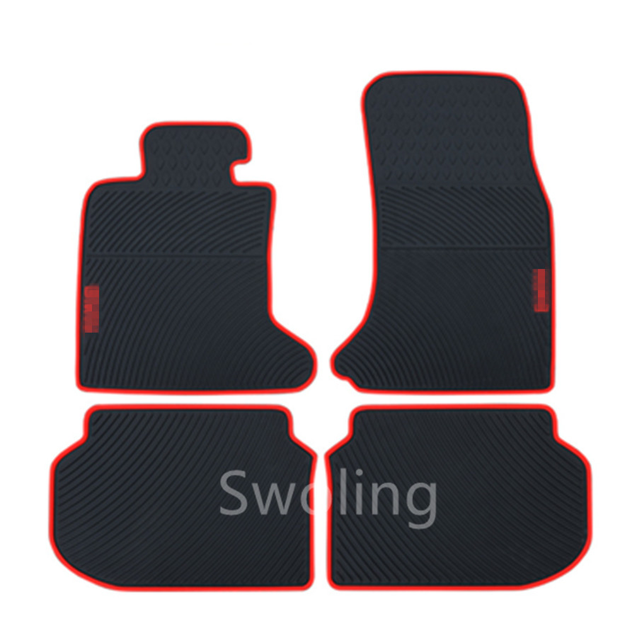 For BMW 5series Short Axis 2011 2012 2013 High Quality Waterproof Anti Skip Latex Durable Carpets Special Rubber Car Floor Mats
