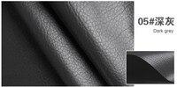05 Dark Gray High Quality PU Leather Fabric Like Leechee For DIY Sewing Sofa Table Shoes