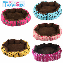 Transer Pet Bed For Dogs Soft Fleece Pet Dog Puppy Cat Warm Bed House Plush Cozy Nest Mat Pad Dot Print Bed Free shipping1 Jan27