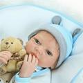 "22"" boy doll reborn babies  fashion silicone reborn dolls children girls bedtime toys gift bebe bonecas menino"