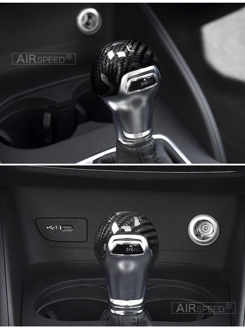 Carbon Fiber Gear Shift Knob Cover Head for Audi A4 B9 B7 A5 Q7 A3 S3 A4 B8 A5 C6 A6 C7 C6 S6 A7 S7 A8 Q5 Accessories (13)