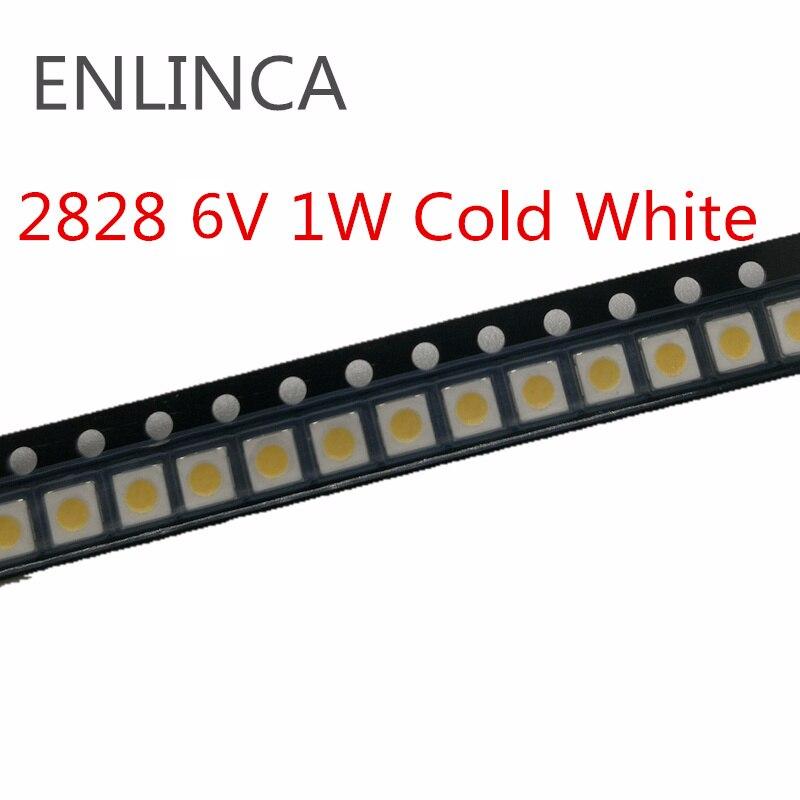 50-200pcs For SAMSUNG for LG TV Application 2828 LED Backlight 1W 3V zener 6V 1W 3228 2828 Cool white LCD Backlight for TV