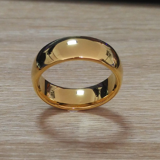 Ring 8mm Gold Color Alliance Tungsten