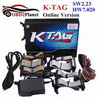 2017 Lançamento Versão K-TAG ECU Tuning Chip Ferramenta Online 7.020 SW V2.23 Firmware V7.020 K TAG KTAG Sem Tokens Limite Multi-Línguas