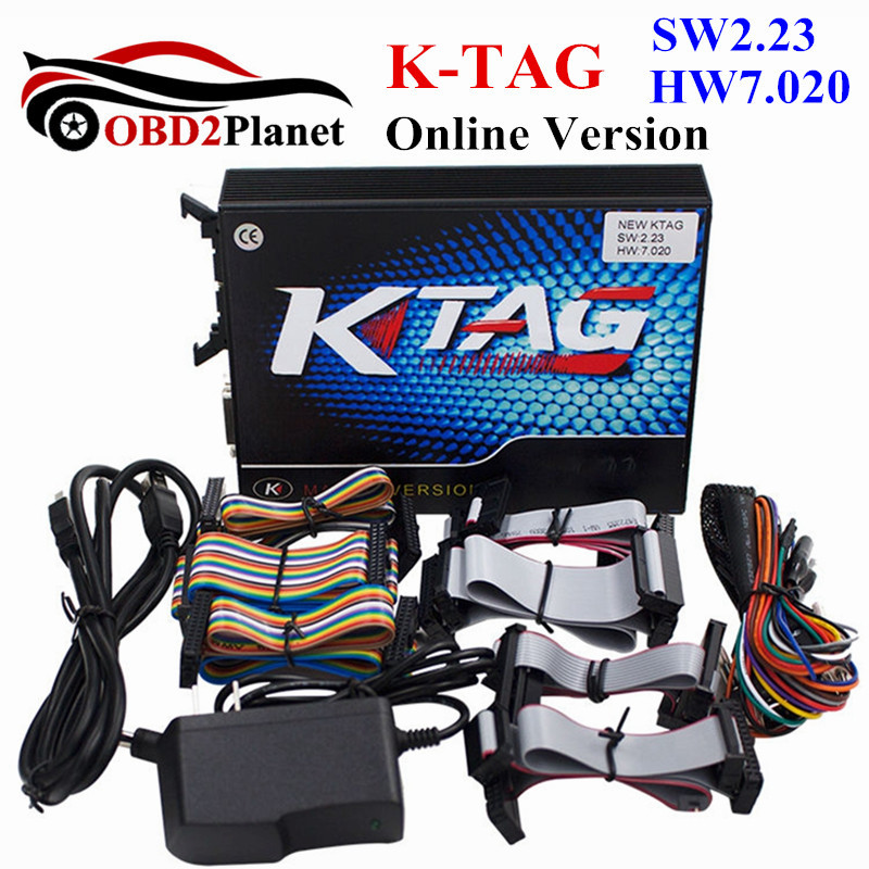 2017 Release K-TAG ECU Chip Tuning Tool Online Version 7.020 KTAG SW V2.23 Firmware V7.020 K TAG No Tokens Limit Multi-Languages