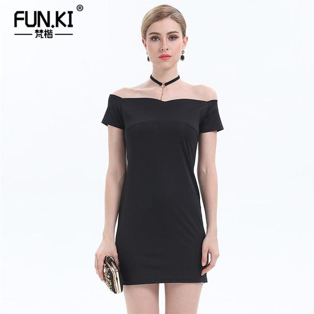 0c77ed76150a FUNKI Summer Sexy Dresses Womens Short Sleeve Off Shoulder Wedding Party Burgundy  Dress Elegant Vintage Black Vestidos
