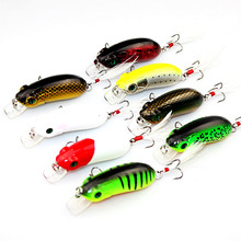 8pcs 6cm 10g High Quality Brand Fishing Lure Pesca Crankbait Hard Bait Tackle Artificial Lures Swimbait Fishing Japan Wobbler