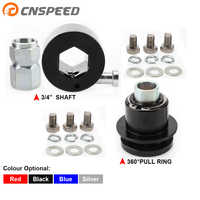 3/4inch Shaft or 360 Pull Ring Universal Aluminum Steering Wheel Quick Release Disconnect Hub for Most Car YC101451-52