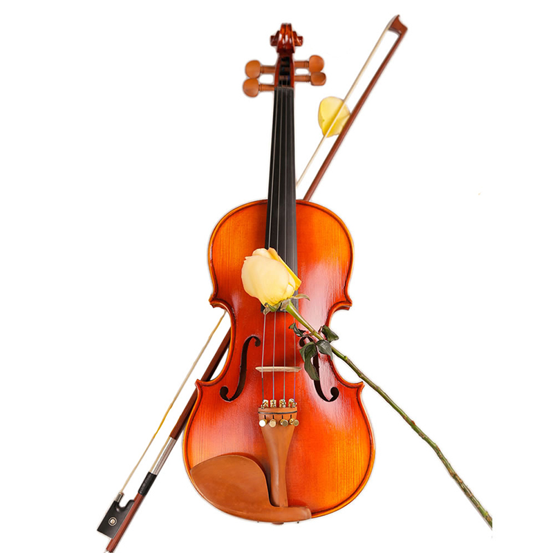 High Quality TL002-1 beginner Violin 4/4 3/4 1/2 1/4 Maple Violino Antique matt High-grade Handmade violin With Case image