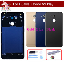 For Huawei Honor V9 Play Battery Cover Back Housing Rear Door Case Battery Cover Panel Replacement new back glass for huawei honor 9x battery cover panel rear door housing case replacement for huawei honor 9x pro battery cover