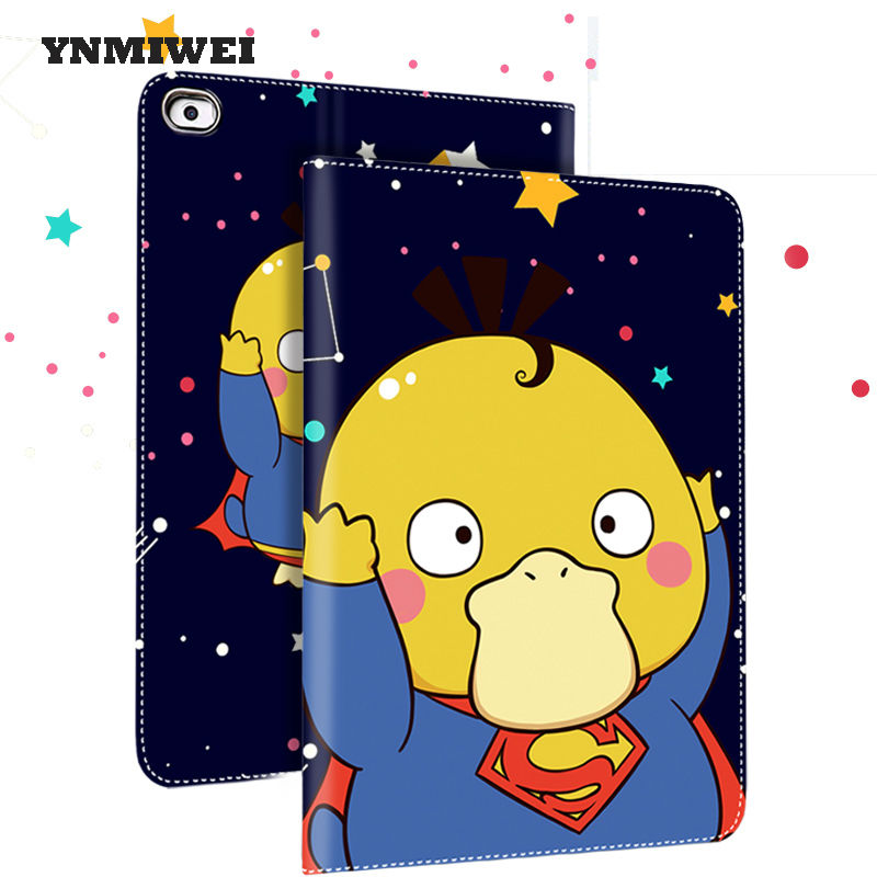 For Ipad Mini 2 Case Mini 123 Protective Tablet Pad Cases PU Leather Anime Cartoon Dirt-resistance Wake Up Tablet Cover Shell air 2 case for ipad 6 ipad air 2 cases pu leather anime cartoon tablet pc pad protective case cover with earphone pocket