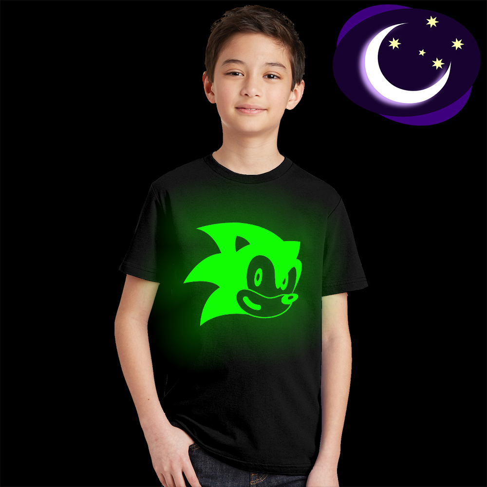 цена на Luminous Sonic The Hedgehog Kids Boy Girl T-shirt for 3-10 Yrs Child Boys Girls Sonic The Hedgehog T Shirt Kids Unisex Tops Tees