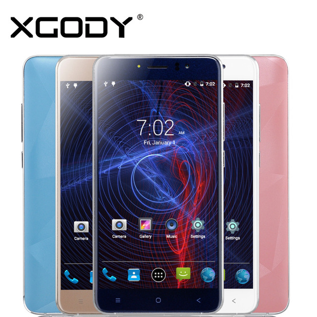 Xgody Mobile Phone 5.5 Inch 512MB RAM 8GB ROM With 5MP Camera Quad Core Android 6.0 D10 Dual Sim Smartphone