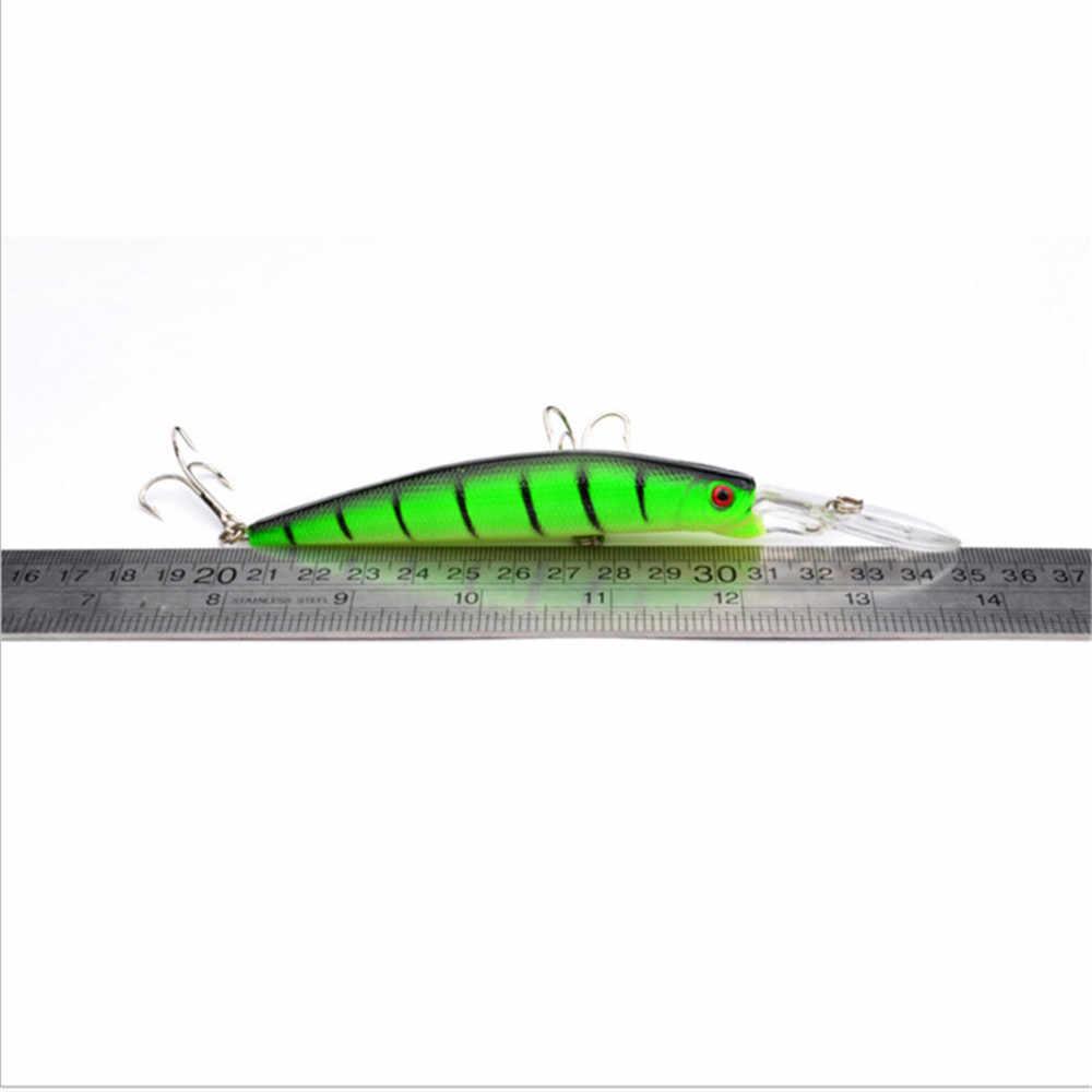 1 pçs 15.5g 14.5cm modelo quente minnow isca de pesca 3d olhos crankbait duro wobblers para baixo pique pesca equipamento pesca pesca
