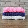 Adereços Fotografia Cobertor do bebê Da Malha Envoltório Newborn Foto Envoltório 3 Cores Handmade Envoltório foto De Crochê Bebê Recém-nascido Photo Shoot