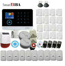 SmartYIBA Free shipping Wireless Home Security WIFI GSM SIM card  RU ES PL DE Switchable Alarm system APP RFID Remote Control