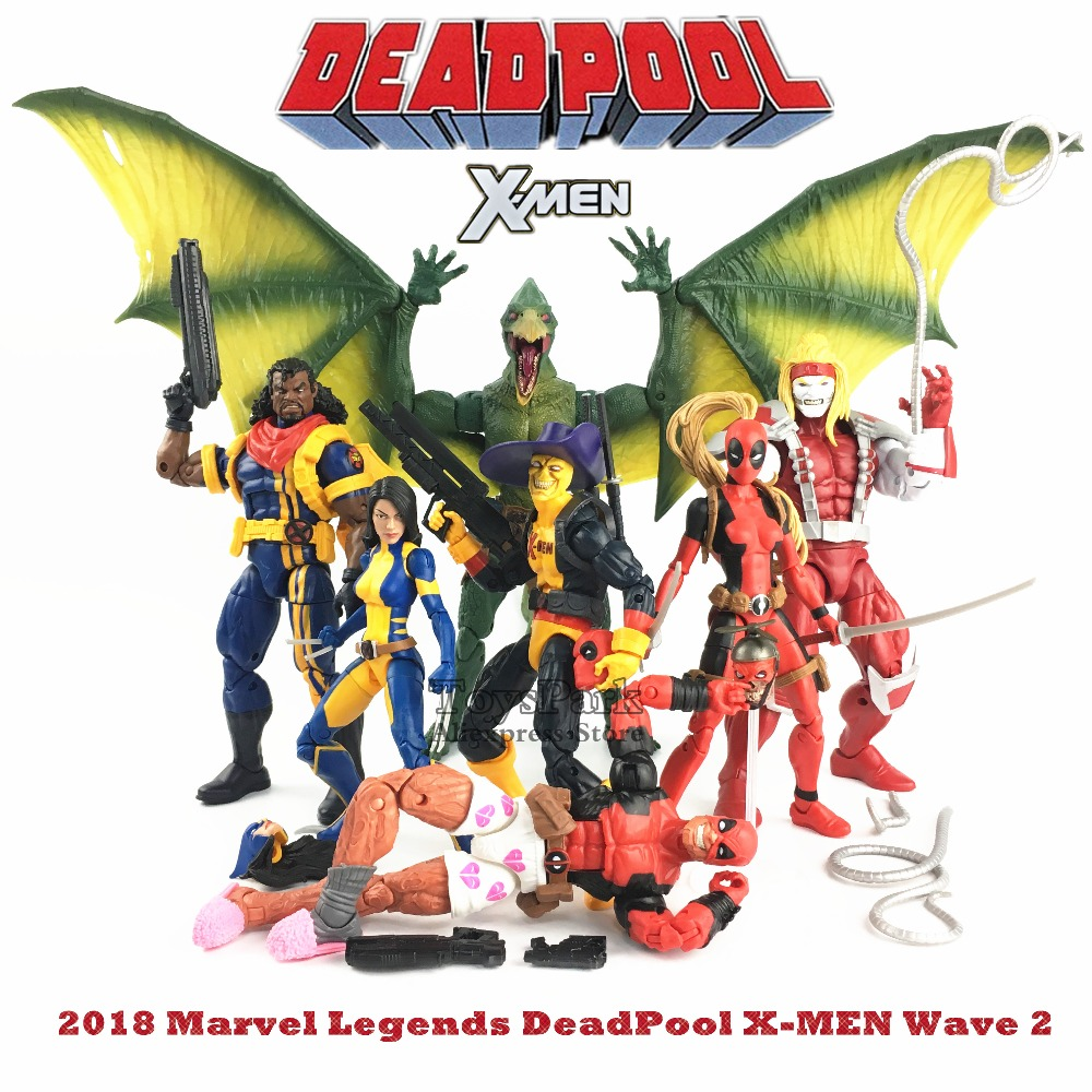 2018 Marvel Legends 6 Deadpool Shorts X Men Shirt X 23 Wolverine Lady Bishop Omega Red Action Figure Dr Karl Lykos Sauron BAF W