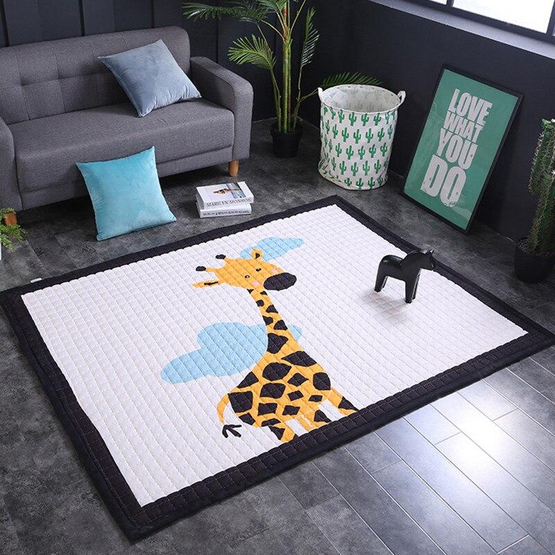 Grande taille enfants tapis pour salon salle de jeux et pépinière enfant antidérapant doux 145*195 cm tapis bébé jouant tapis enfants maison tapis