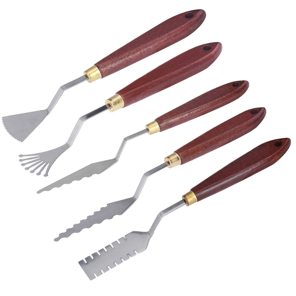 MEEDEN 5 Pieces/ lot Steel Professional Oil Painting Palette Knife Kit Spatula Mixing Scraper Paint Art #1 #3 #5 #6 #9 цены