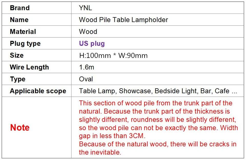 vintage diamante suporte da lâmpada madeira maciça ue eua plug