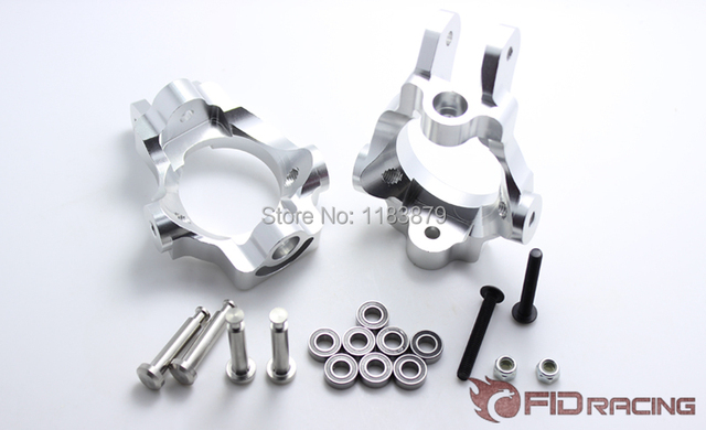 front wheel hub carrier brace and stainless steel steering column castor block for LOSI 5IVE-T 5T Truck