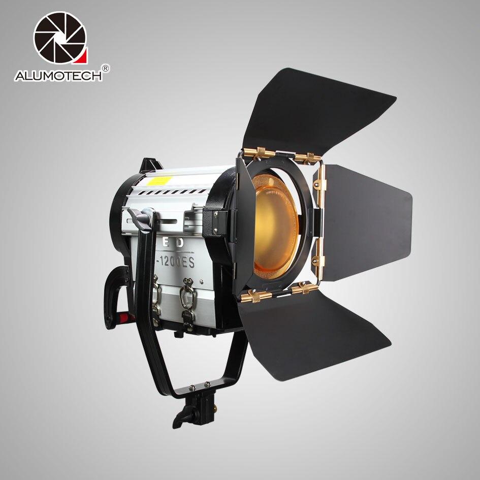 ALUMOTECH Fresnel Dimming 120W Bi color LED Spotlight With V lock Mount For Photography Studio Video