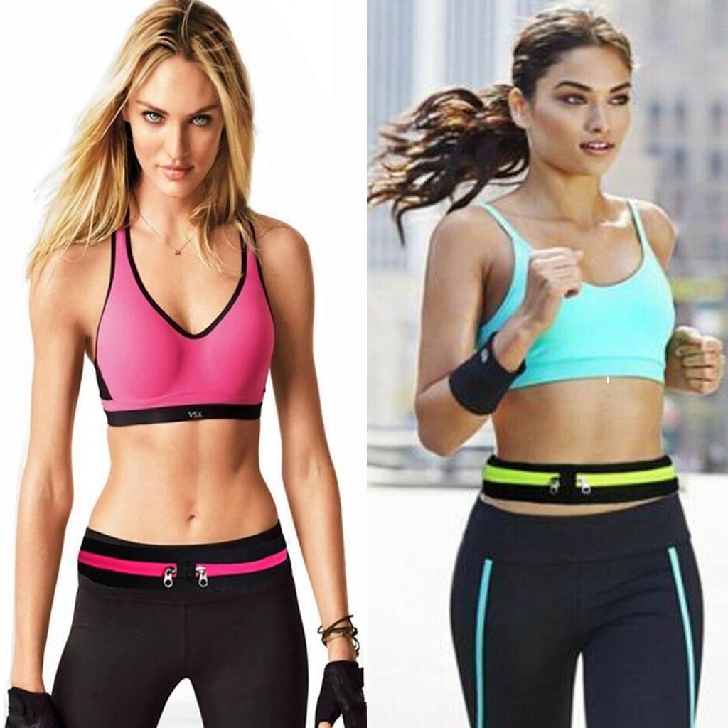 Women Pocket Running Belt Phone Pouch Waist Bag Sports Travel Fanny Pack Outdoor