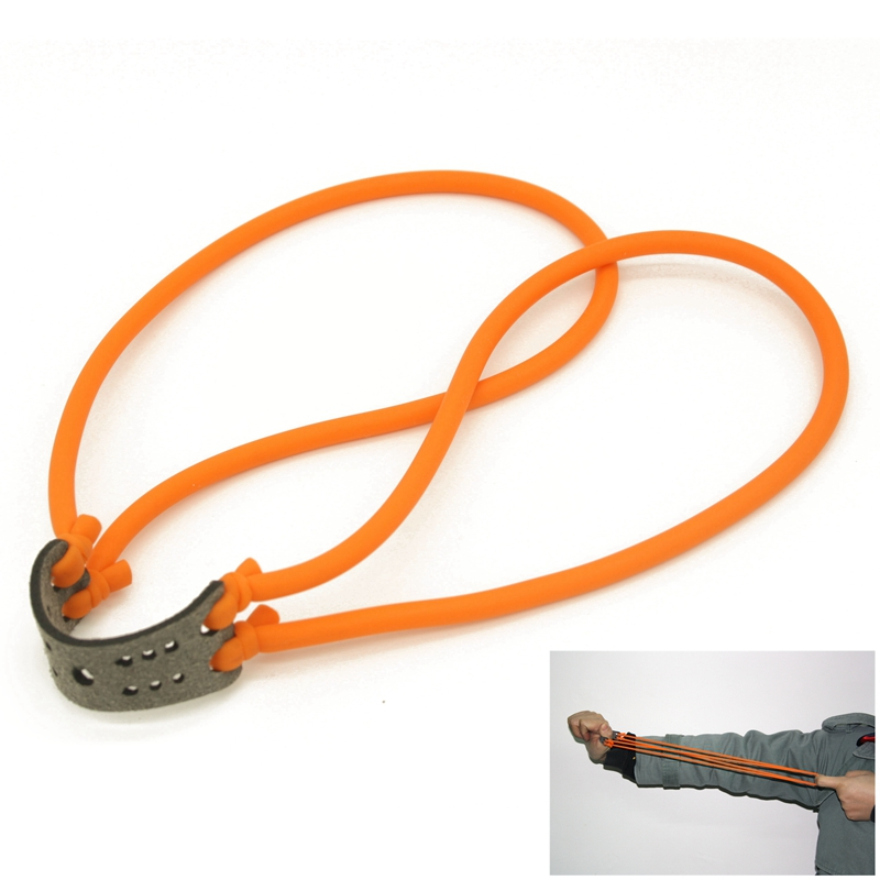 2pcs Tactical Hunting Shooting Slingshot Natural Latex Rubber Tube Band Outdoor Slingshot Catapult Elastic Part Bungee Equipment