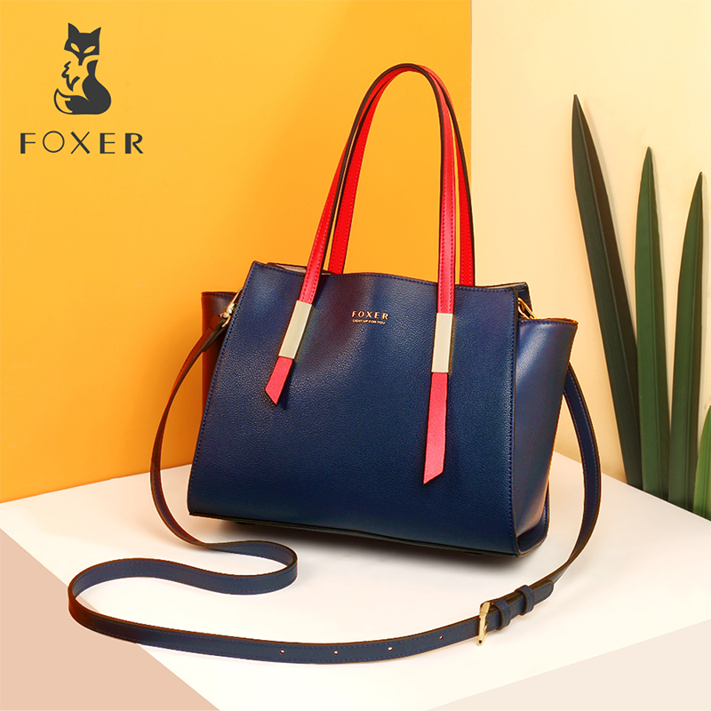 FOXER Brand Lady New Fashion Trapeze Handbags Female Occident Style Tote Women High Quality Shoulder Bags 2018 new high quality women messenger bags metal hasp female shoulder bags fashion women handbags tote briefcase l8 98