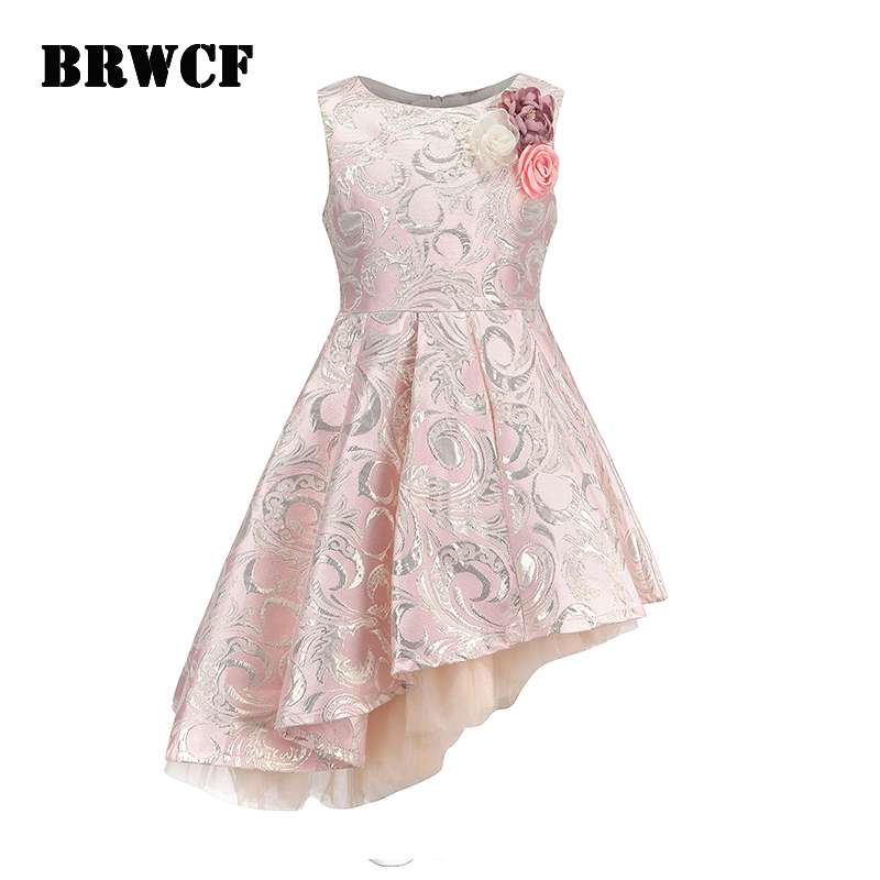 BRWCF New 2018 Autumn&Winter Children Clothes Fashion Kid Dress for Baby Girls Princess Dress  for Party and Wedding 3-12 Years 2017 new fashion autumn and winter baby girls clothes kids dress long sleeves cartoon lace party princess dresses for children