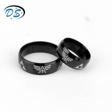1 PC The Legend of Zelda Cosplay Jewelry Titanium Ring Mens Rings