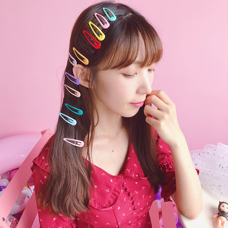 Fashion 2018 New Simple 10PCS/Pack Mini Candy Color Hair Alloy BB Clips Hairpin For Women Girls Kids Hair Accessories
