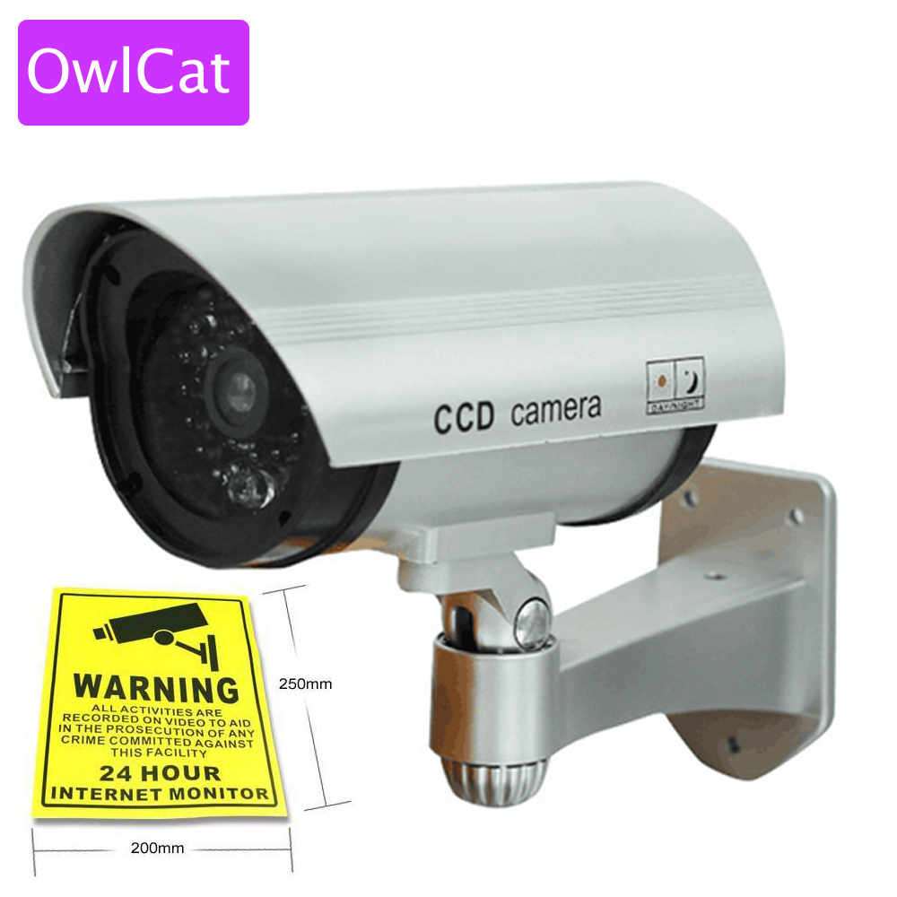 Realistic Looking Fake CCTV Security Cameras Dummy Camera Wireless Outdoor Waterproof Flash IR LED Surveillance Camera waterproof dummy cctv camera with flashing led for outdoor or indoor realistic looking fake camera for security