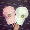 New Casquettes 2016 Korea Ulzzang Harajuku Simple Emoji Snapback Baseball Caps For Men And Women Casual Pink Embroidery Sun Hat