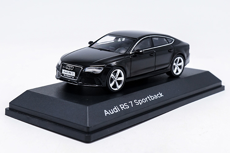1:43 Diecast Model For Audi RS7 Black Sportback Alloy Toy Car Miniature Collection Gifts