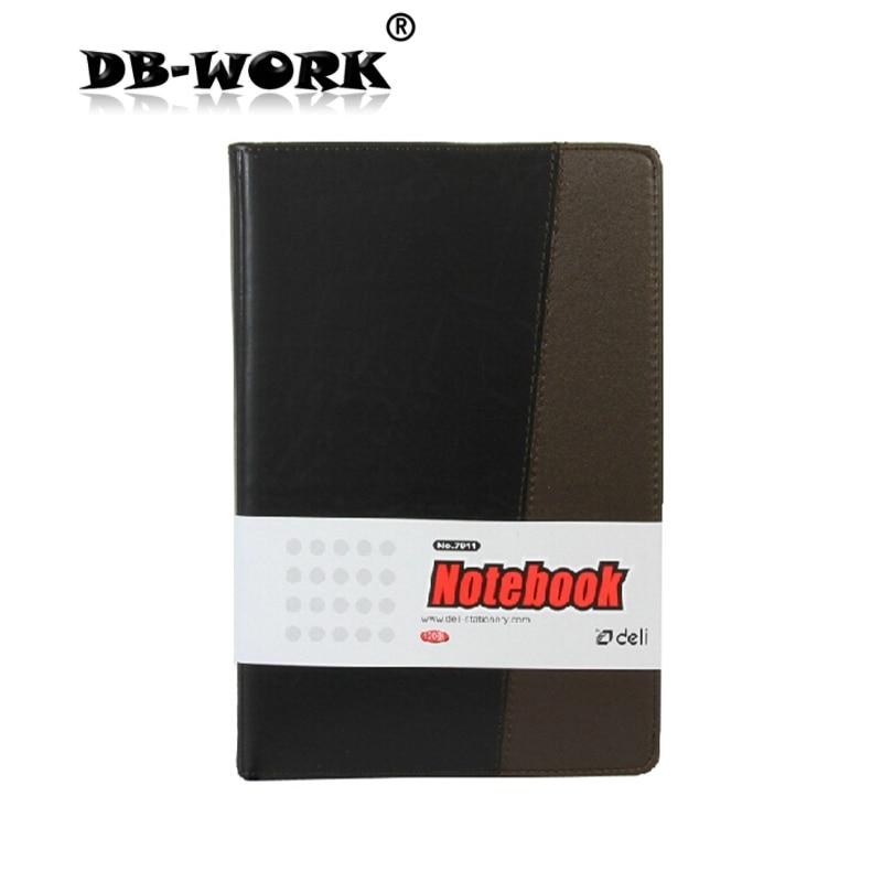 Deli 7911 läder anteckningsbok läder företags anteckningsbok 120 ark A5 anteckningsblock
