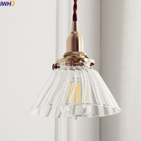 IWHD Nordic Japan Style Pendant Lights Fixtures Dinning Living Room Copper Glass Loft Pendant Lamp Hanglamp Home Lighting
