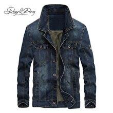Новое поступление 2019, джинсовая куртка DAVYDAISY, Мужская джинсовая куртка с воротником стойкой в стиле хип хоп, рваная уличная дизайнерская мужская джинсовая куртка