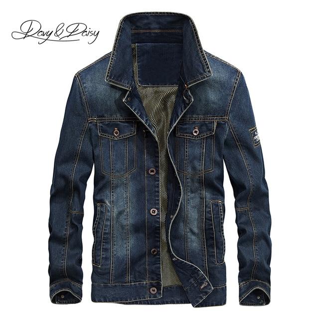 DAVYDAISY 2019 New Arrival Denim Jacket Men Washed Cowboy Stand Collar Hip Hop Ripped Street Designer Men Jeans Coat DCT 231