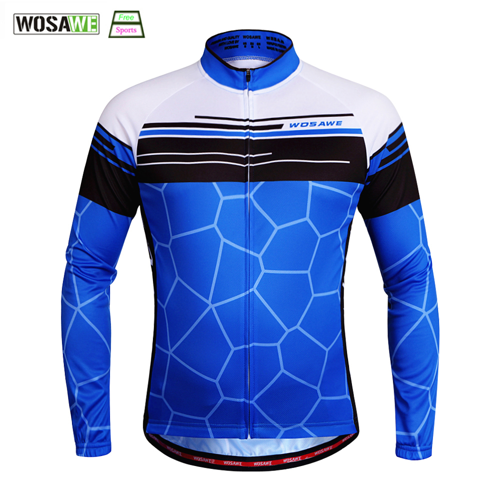 WOSAWE Cycling Jersey Summer sSpring Downhill MTB Offroad T-Shirt Motocross Racing Riding Long Jersey Quick Dry Bicycle Jersey