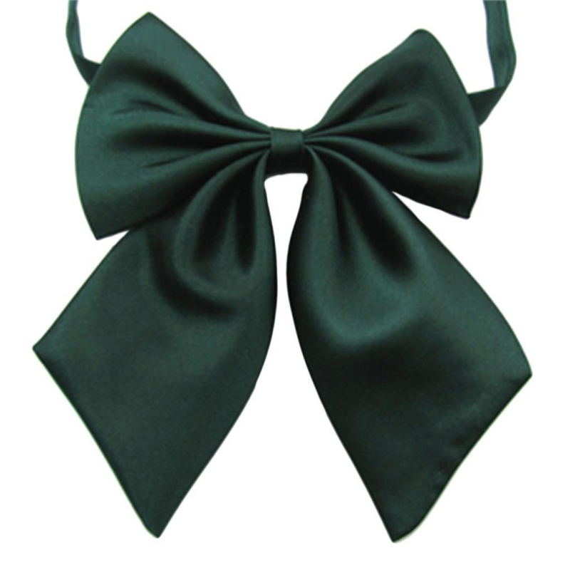 Fashion Solid Color Butterfly Bow Tie Women Cravat Neckwear Adjustable Party Tie