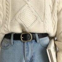 2 Colors Mihoshop Ulzzang Korean Korea Women Fashion Accessories Chic Vintage Preppy Student Black Leather Belts