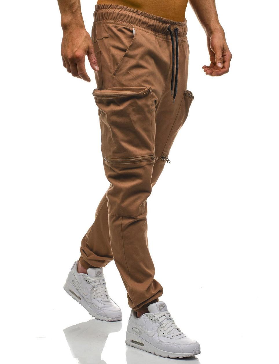 HTB1nQrgL9zqK1RjSZFjq6zlCFXaU Mens Joggers 2019 New Red Camouflage Multi-Pockets Cargo Pants Men Cotton Harem Pants Hip Hop Trousers Streetwear XXXL