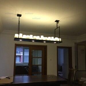 Image 2 - העתק קווין ריילי מזבח תליון מנורת LED נר נברשת בציר אור רטרו מתכת קבועה השעיה שליטה מרחוק אור